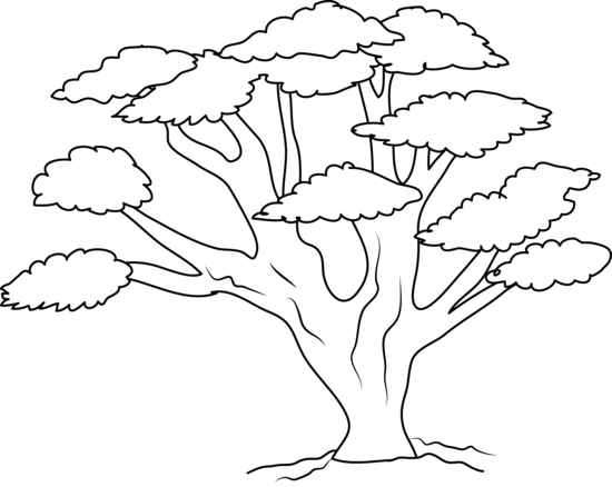 Oak Tree Clip Art Black White