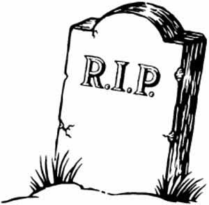 Obituary: Travelers Checks (1772 u2013 2013) - Kevinu0026#39;s Travel Journal; Rip tombstone clipart ...