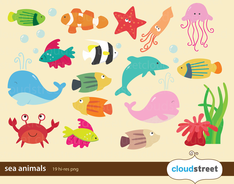 Ocean Animals Clipart Black. 1313f4ffa34792b5a12bc171821c1c .