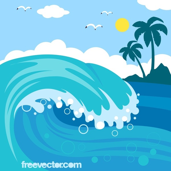 Ocean waves clip art vectors download free vector art