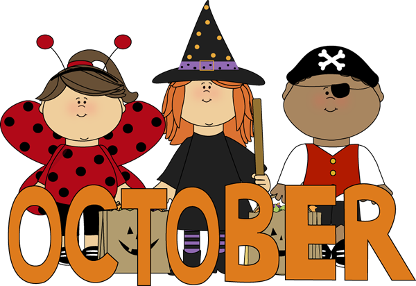 Fall clipart october word #1