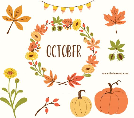 October the ink nest clip art