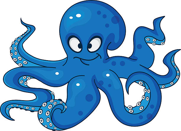 clipart octopus cartoon #4565917
