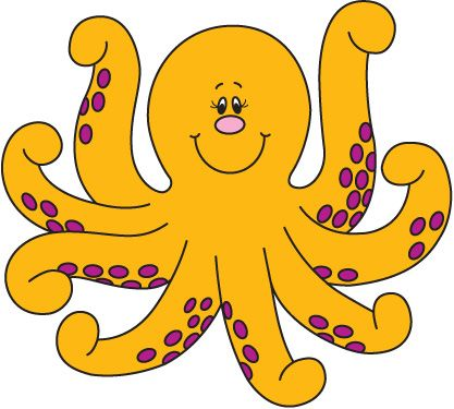 octopus clipart free - Google Search Rock Clipart, Fish Clipart, Beach  Clipart, Education
