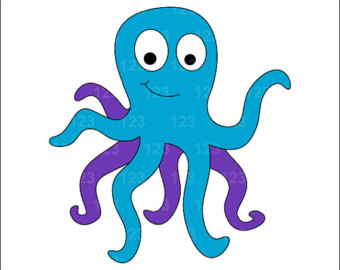 Octopus Silhouette Clipart .