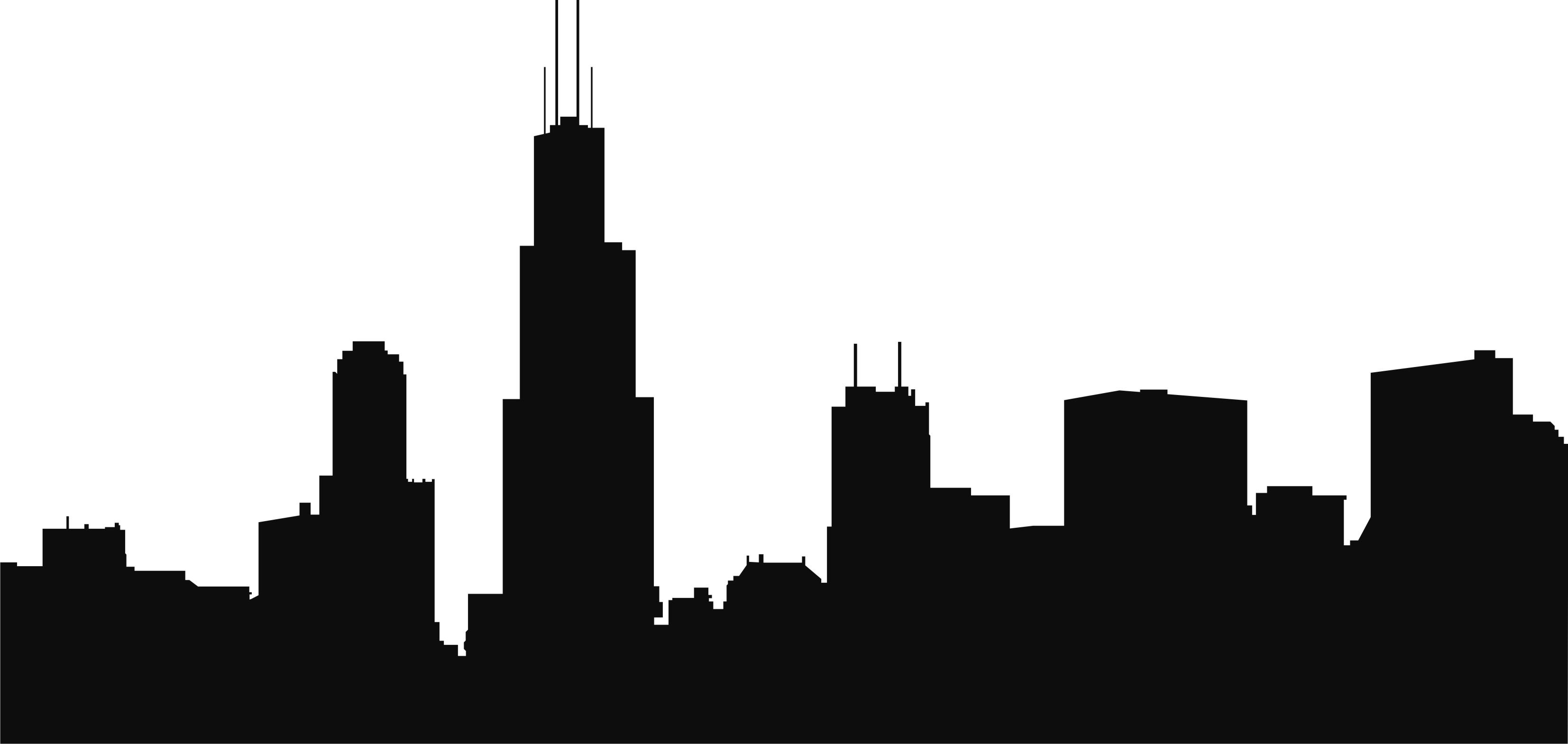 of Chicago Skyline Clipart .