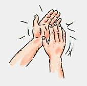 of pair of clapping hands