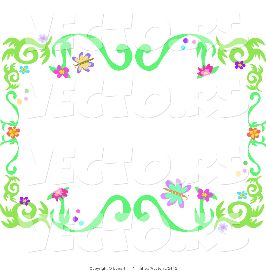 of Spring Borders Clip Art ..