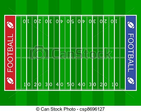 Of Vector American Football Field Csp8696127 Search Clipart