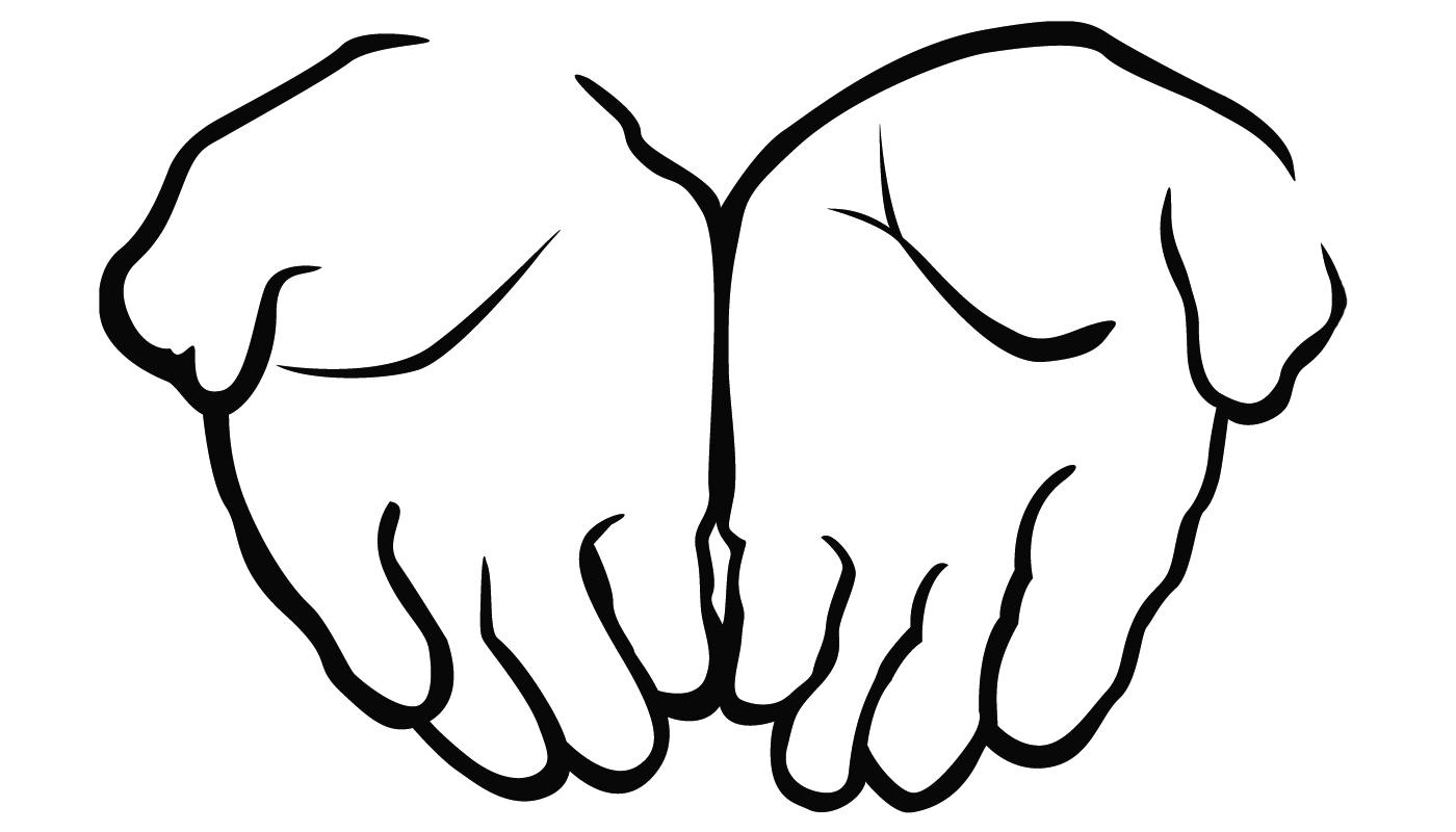 Offering hands clipart