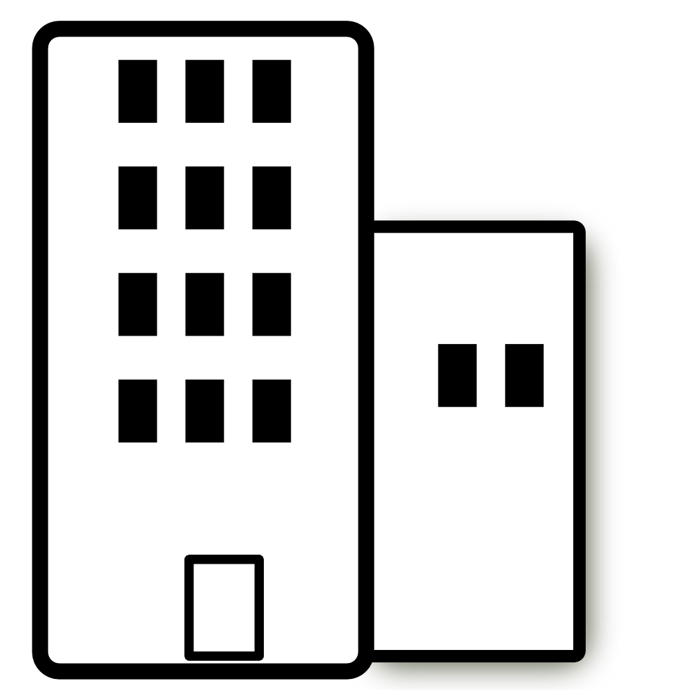 Office Building Black And White Clipart