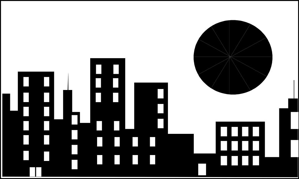 Office Building Clipart Black