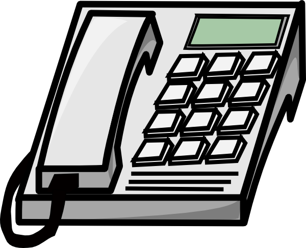 Office Phone Clip Art At Clker Com Vector Clip Art Online Royalty