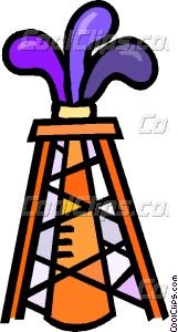 oil well striking oil