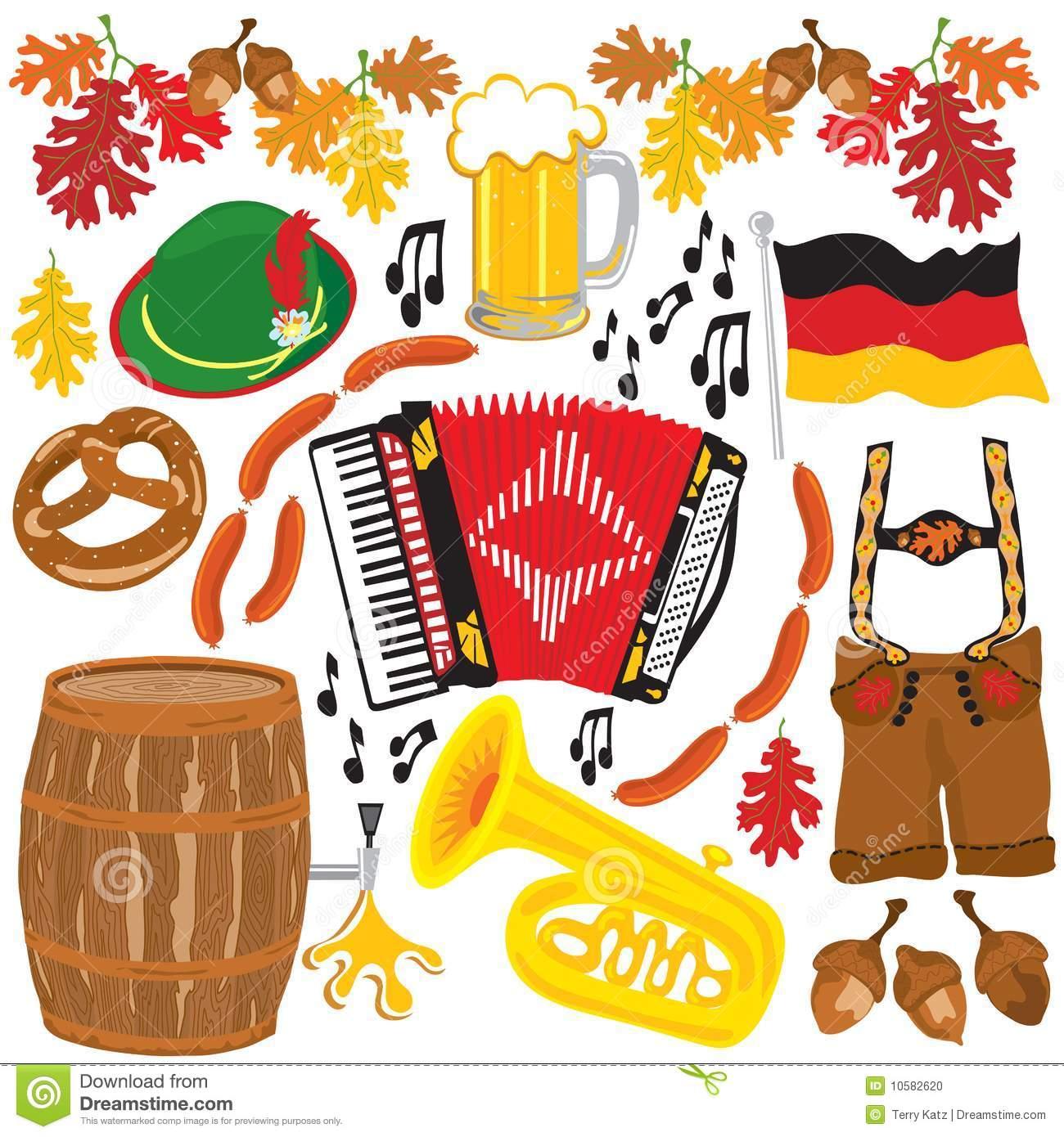 Oktoberfest party clipart elements Stock Photo