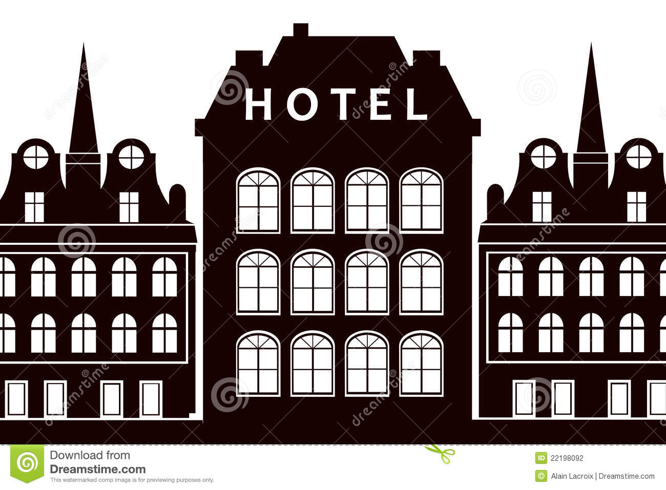 Old Fashioned Hotel With Hotel Sign