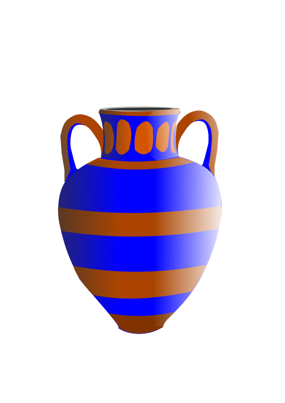 Old Fashioned Vase Blue And Brown