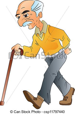 Old Man Clipart #1