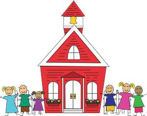 Old school house clipart