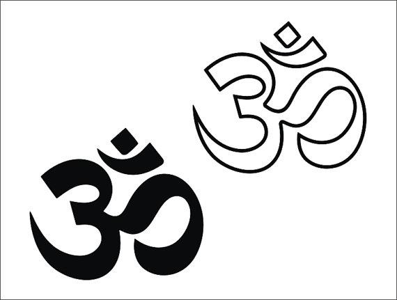 Aum Om Meditation Yoga - OM clipart - Wall Decor- svg - ai - dxf - cdr -pat  -jpeg -png -pdf -wmf -docx -Iron on Transfer -Laser Engraving