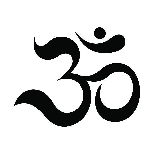 Om or Aum Indian sacred sound. vector art illustration