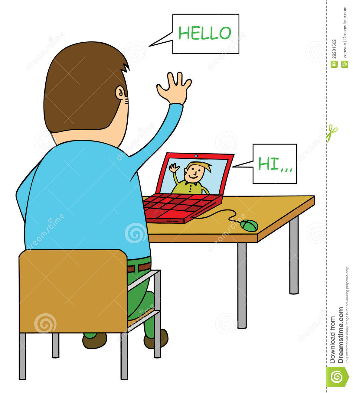 ... online chat clip art gallery video chat ...