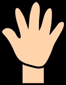 open hand clip art