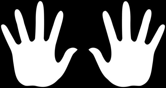 open hand outline