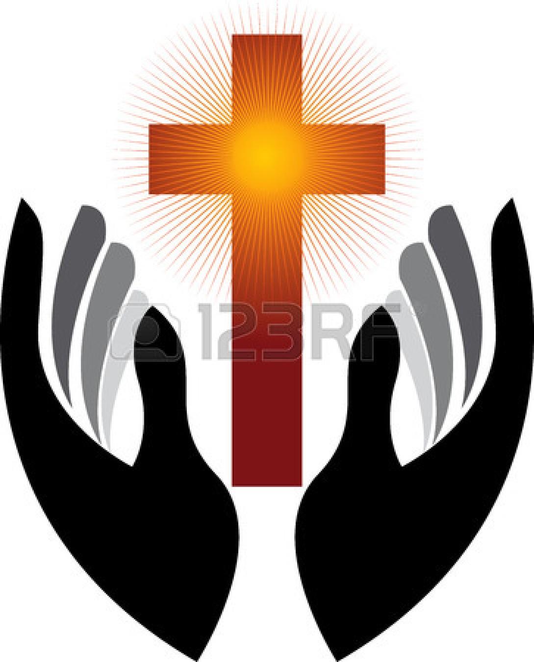 open praying hands clipart