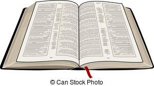 ... Open Bible - A vector illustration of an open Bible,.