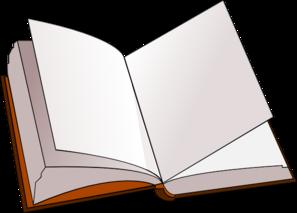 Open book clip art 4