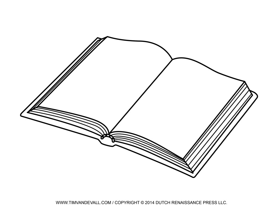 open book clipart black and .