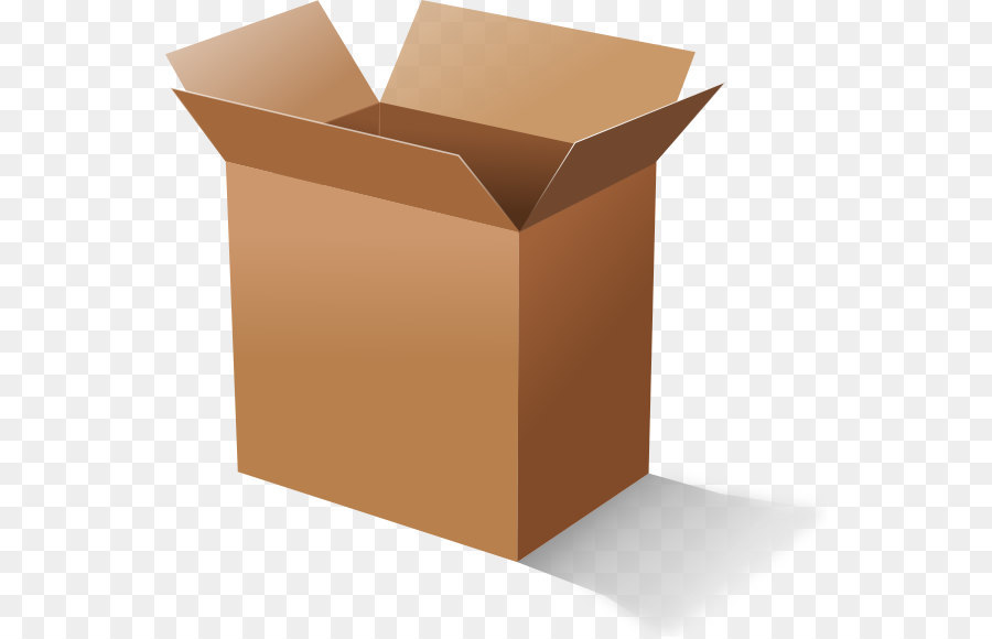 Cardboard Box Clip Art - Open Box PNG