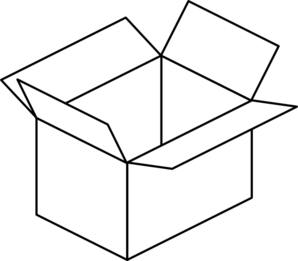 Carton Open Box Clip Art