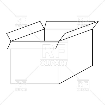 Open Box Outline Icon, 171693, Open Box Clipart Royalty-free Vector Vector Image Hdclipartall.com