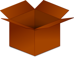 Open Cardboard Box Clip Art
