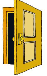 Open Door Clipart #1