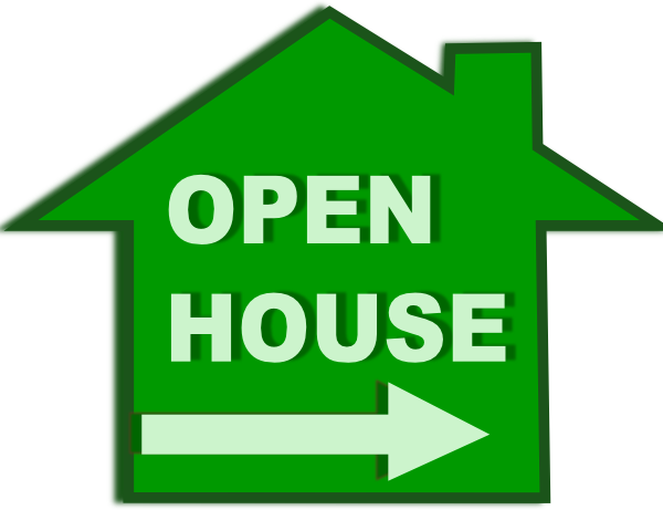 Open House Clipart this image as: