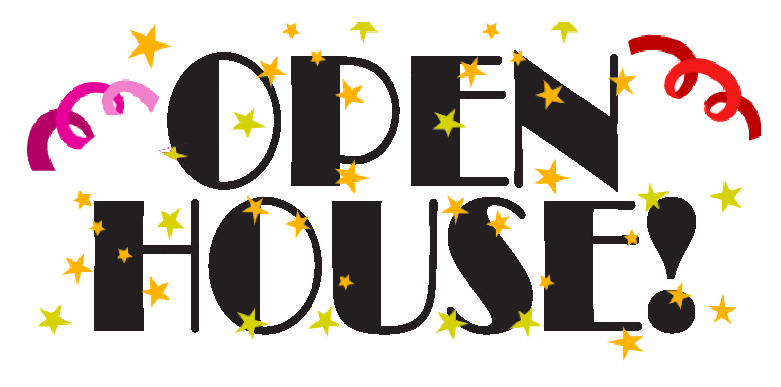 What To Do This Weekend March - Open House Clipart