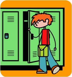 Open School Locker Clip Art Opening A Locker