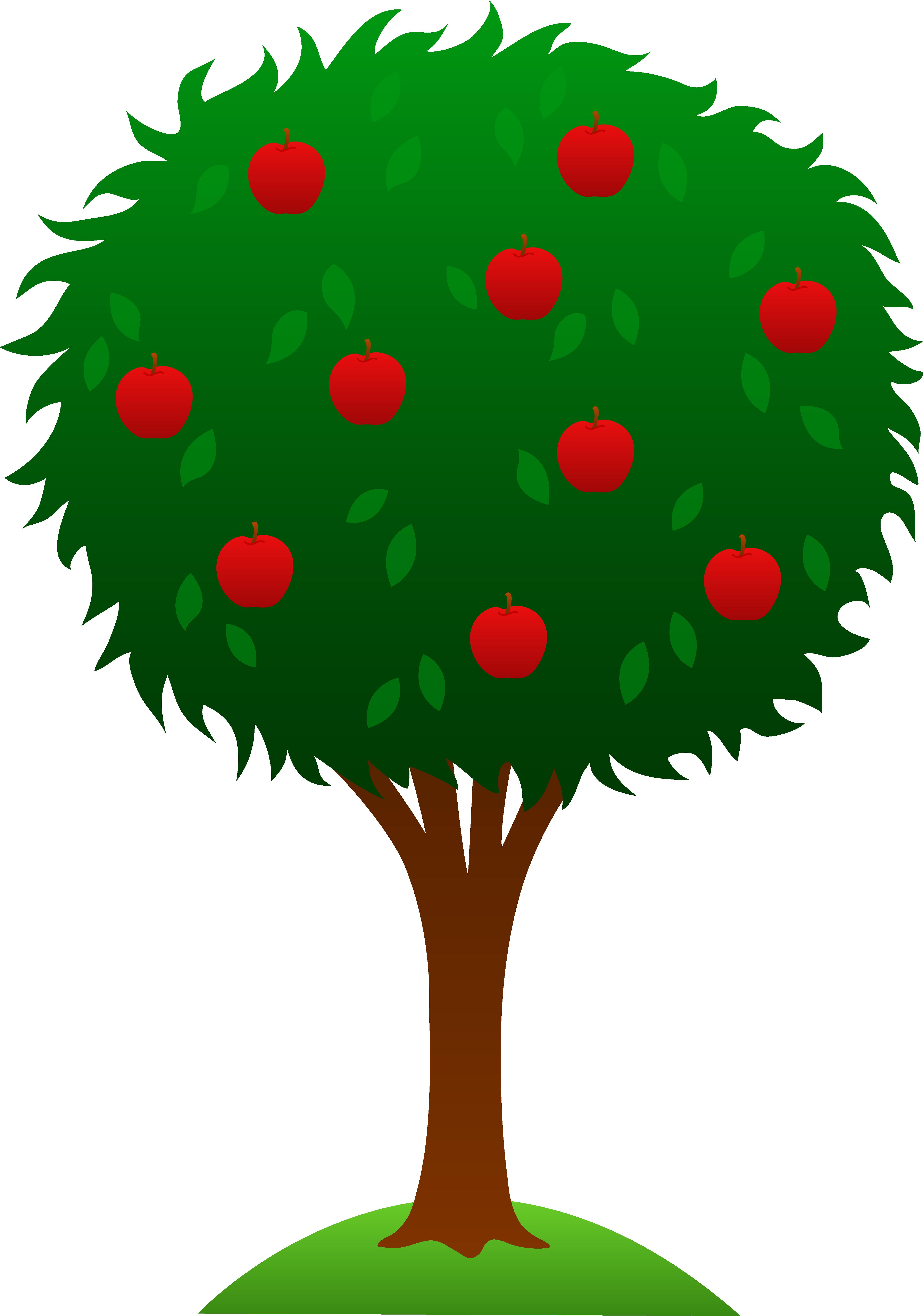 orange tree clipart