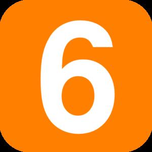 Orange 6 Clip Art