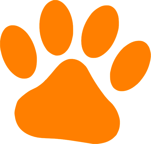Orange Cat Paw Clip Art At Clker Com Vector Clip Art Online Royalty