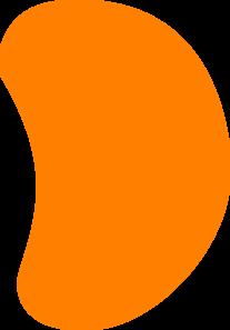 Orange Jelly Bean Clip Art