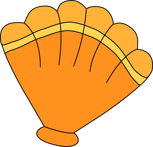Orange Sea Shell Clip Art - Orange Sea Shell Image