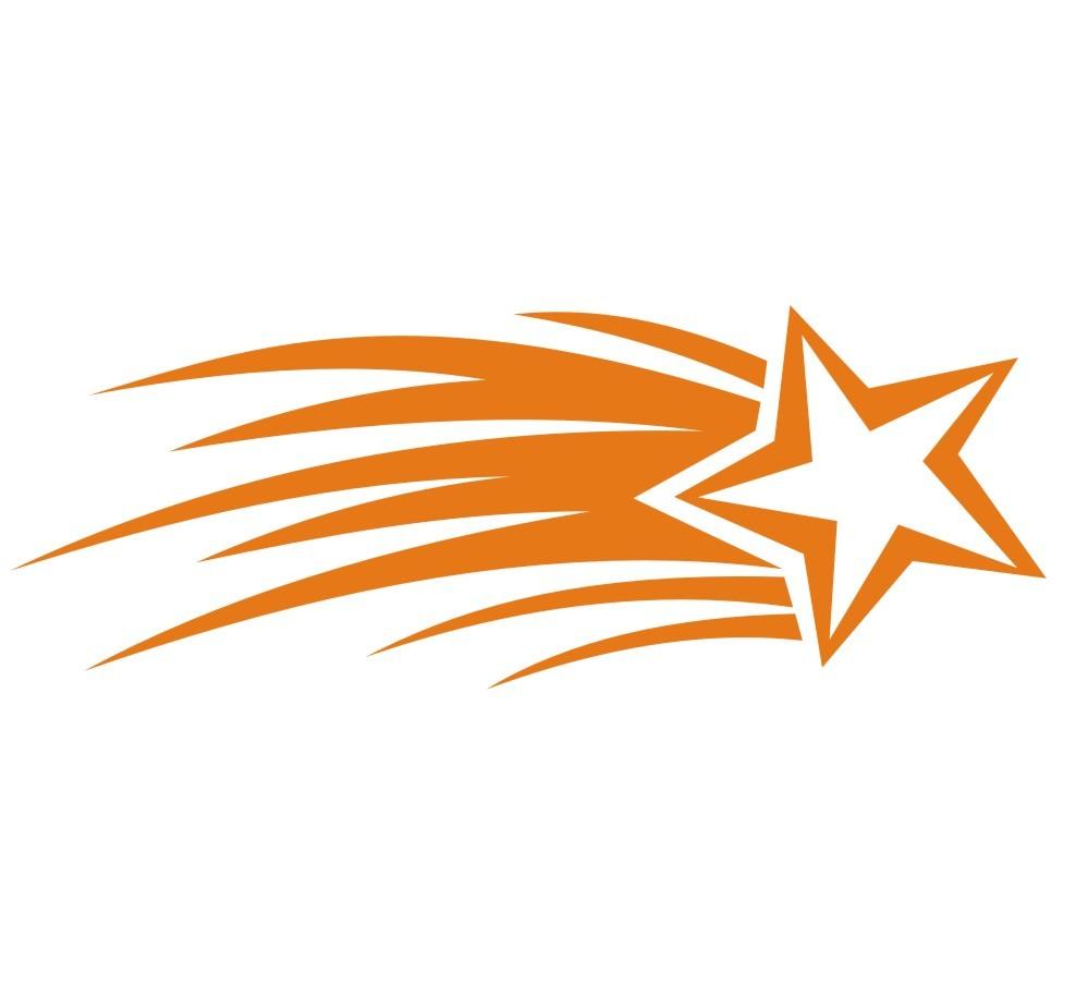 Orange Shooting Star Clip Art 5