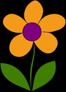 Orange Spring Flower Clip Art