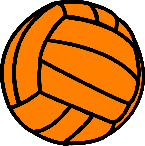 Orange Volleyball clip art - vector clip art online, royalty free