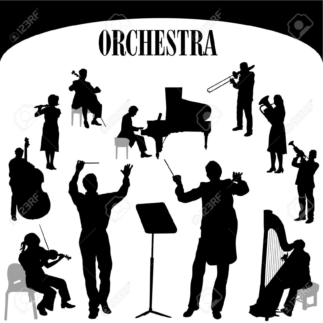 Orchestra cliparts