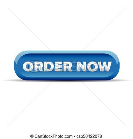 Order Now Button Blue Vector